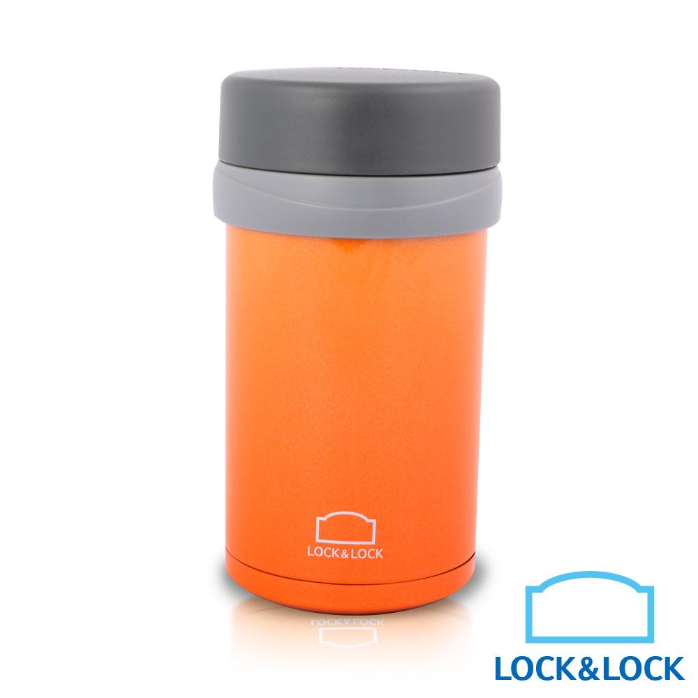 樂扣樂扣 雙層真空不鏽鋼悶燒罐/500ML橘(快)