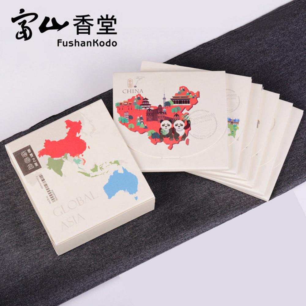 Fushankodo 富山香堂祈福保平安健康旺財富沉檀香_ 世界之美傳香盒_ 單盒