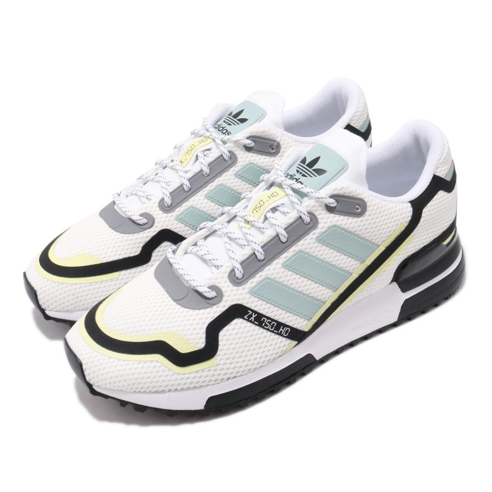 adidas 休閒鞋 ZX 750 HD 復古 男鞋 愛迪達 三葉草 透氣 球鞋穿搭 白 黑 FV2875