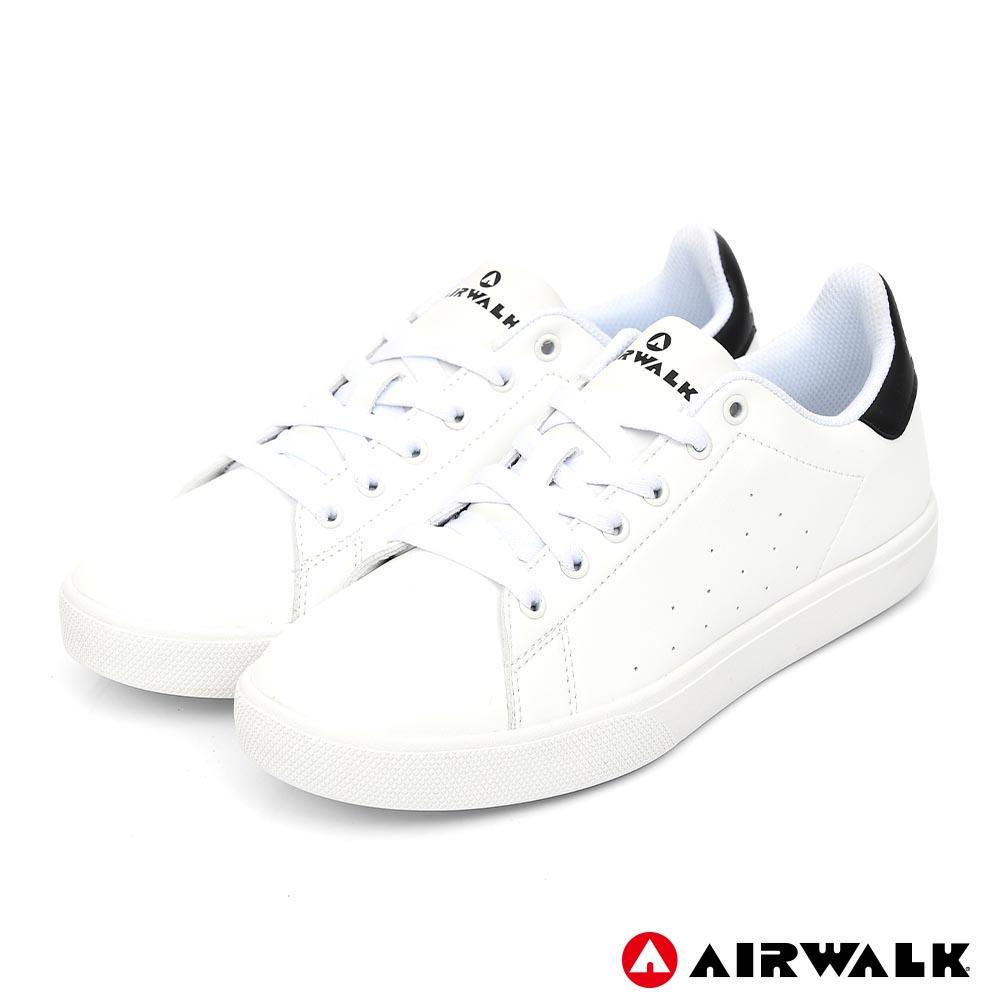 【AIRWALK】經典潮流休閒鞋-男款-白黑