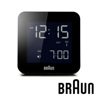 德國百靈 BRAUN 數位電子方形旅行鬧鐘 (BNC009BKBK)-質感黑