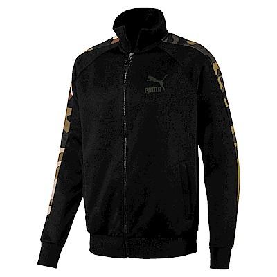 PUMA-男性流行系列野地迷彩T7立領外套-黑色-歐規