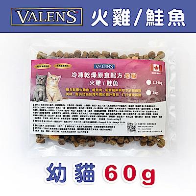 【VALENS威倫】幼貓-冷凍乾燥原食配方-火雞/鮭魚 外出包 60 g