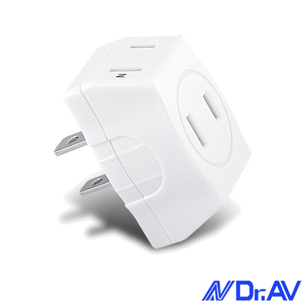 Dr.AV D型三面插座轉接頭(TNT-22)