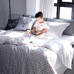 OLIVIA Oliver 標準雙人床包冬夏兩用被套四件組 300織萊賽爾TENCEL 台灣製