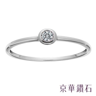 京華鑽石 10K金 簡愛 0.10克拉 單顆美鑽線戒女戒