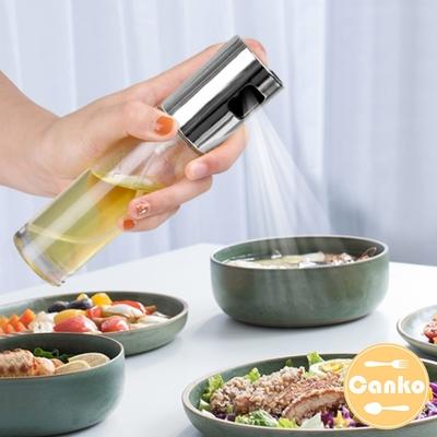 Canko康扣 不鏽鋼按壓式透明噴油瓶/調味料噴霧瓶