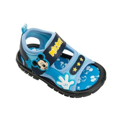 迪士尼童鞋  米奇  街頭感啾啾涼鞋-藍