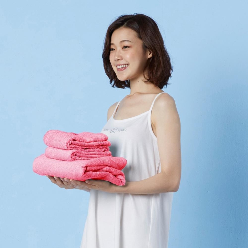 Yvonne Collection 長毛巾+大浴巾-粉紅