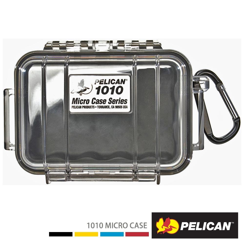 美國 PELICAN 1010 Micro Case 微型防水氣密箱-透明(黑)
