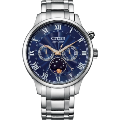 CITIZEN 星辰 光動能紳男月相手錶 AP1050-81L