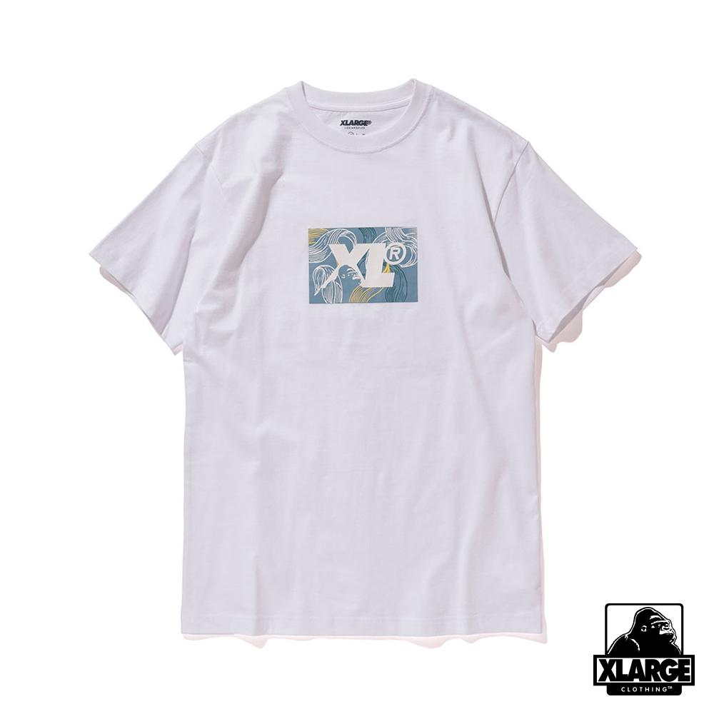 XLARGE S/S TEE LEAF短袖T恤-白