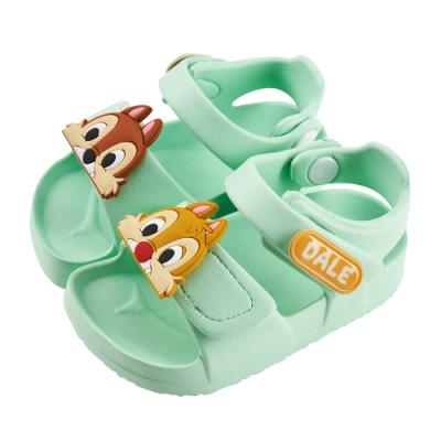 迪士尼童鞋 奇奇蒂蒂 立體造型防水涼鞋-綠(柏睿鞋業)
