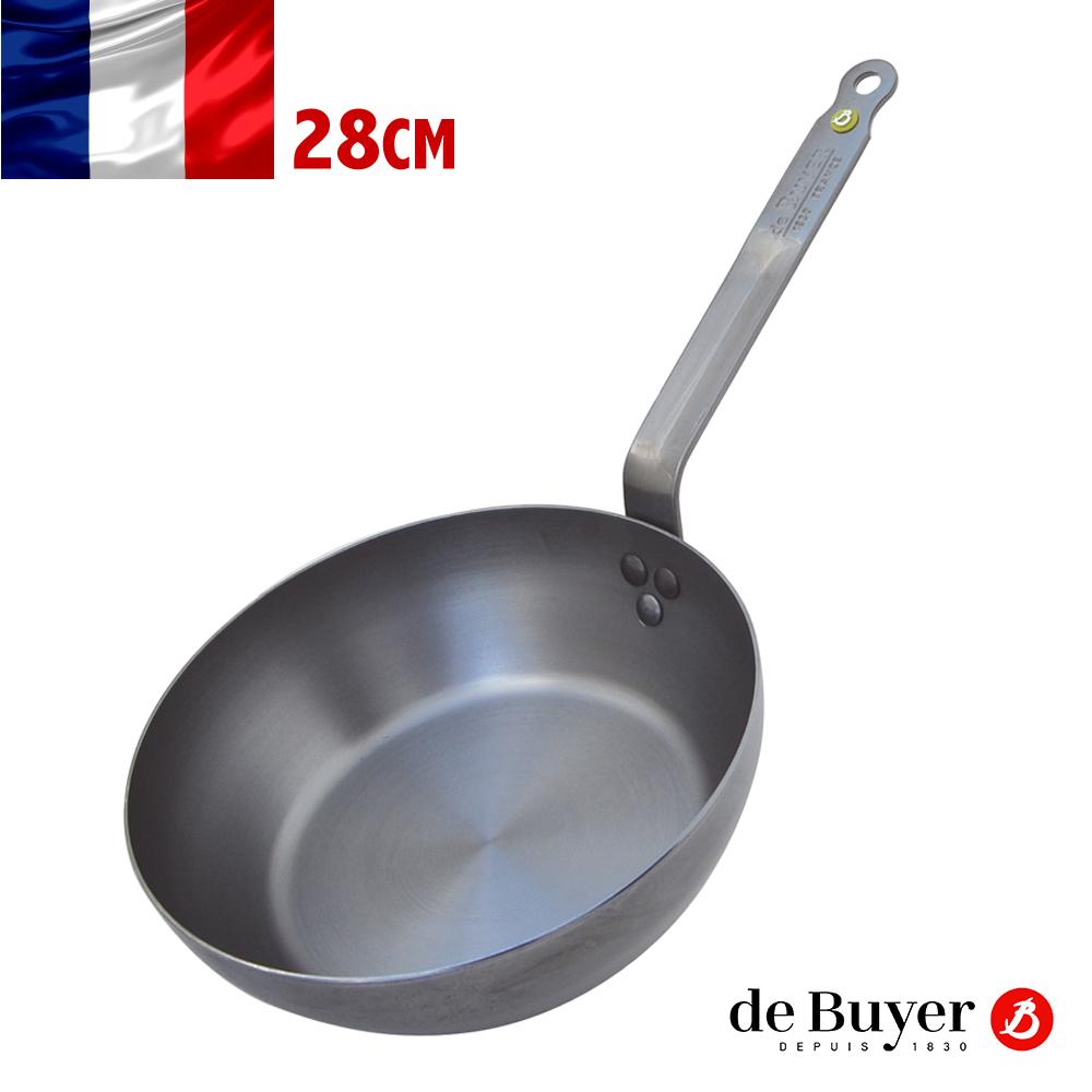de Buyer畢耶 原礦蜂蠟系列-法式傳統柄深煎鍋28cm