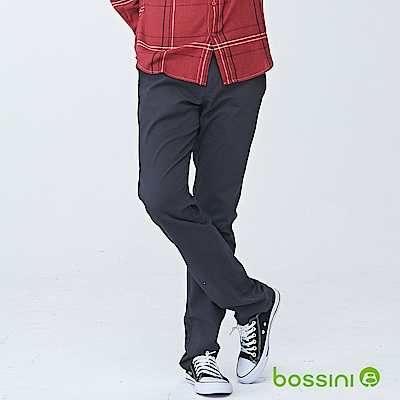 bossini男裝-修身卡其長褲01岩石色