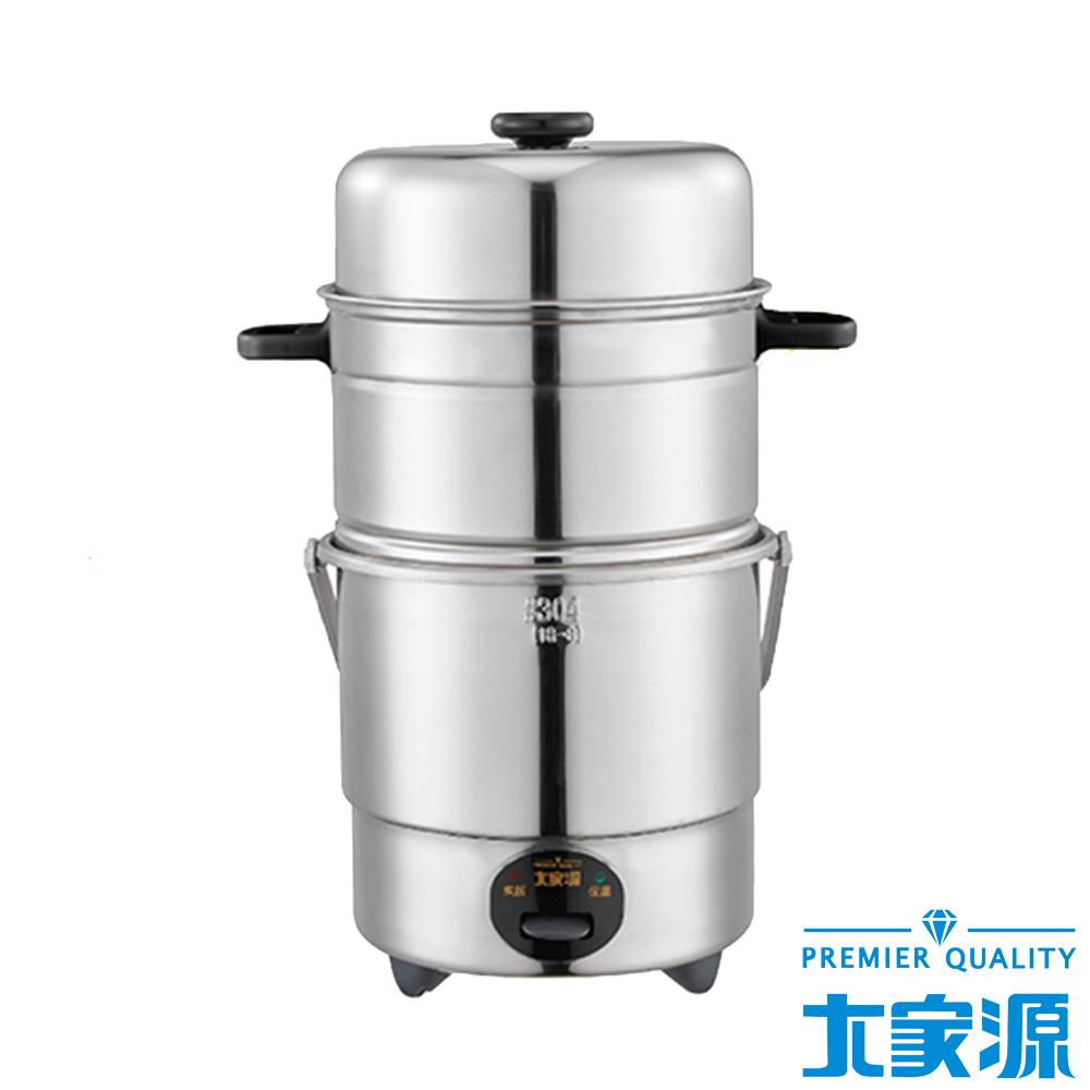 大家源三人份304全不鏽鋼雙層蒸籠電鍋-鍋蓋加計 (TCY-3207)