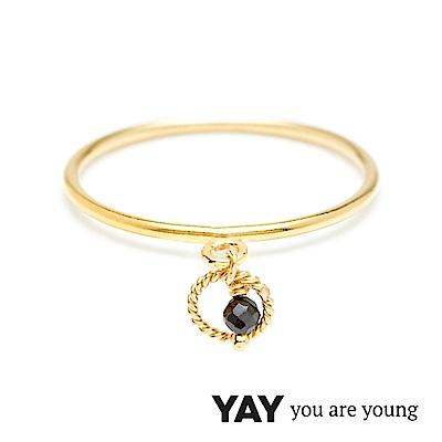 YAY You Are Young Black Swan 天鵝湖黑曜石戒指 迷你款