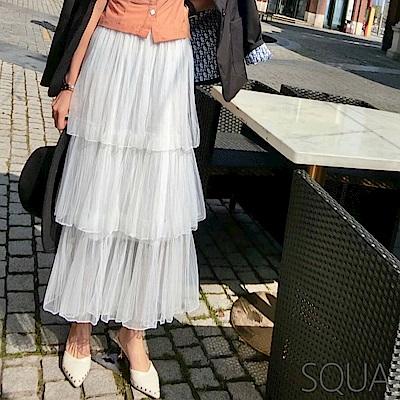 SQUA 網紗蛋糕半身裙-二色
