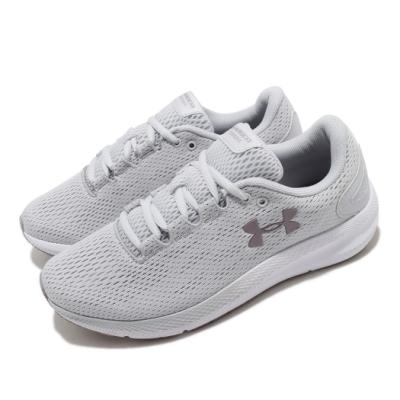 UA 慢跑鞋 Charged pursuit 運動 女鞋 輕量 透氣 舒適 避震 路跑 健身 灰 白 3022604104