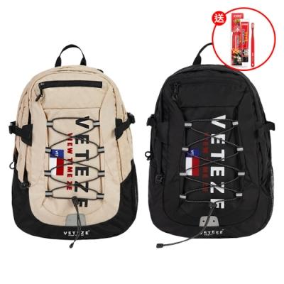 韓國VETEZE Big Logo後背包(顏色任選)出貨送 韓國2080 辣雞麵聯名款牙膏100g*1
