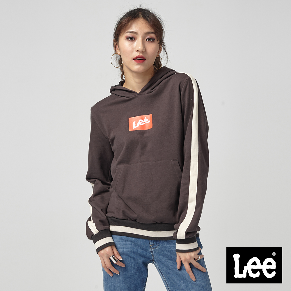 Lee 小LOGO長袖連帽厚TEE/RG-0-0