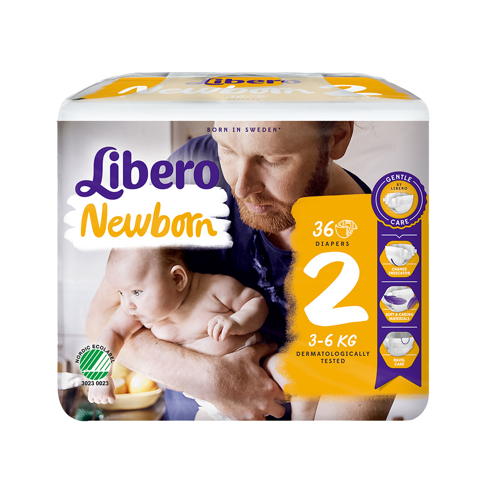 Libero麗貝樂 黏貼式嬰兒紙尿褲(2號NB-2)(36片/包)