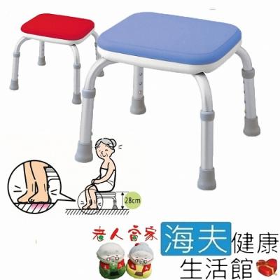 海夫健康生活館 老人當家 ARON 洗澡椅 Mini-S 無背 藍_C0088-01-01