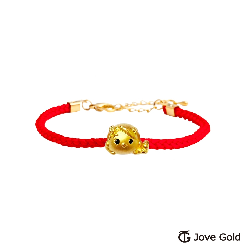 Disney迪士尼系列金飾 TSUM長髮公主黃金串珠 編繩手鍊款