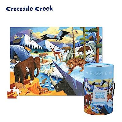 美國Crocodile Creek 生物主題學習桶裝拼圖-冰河動物