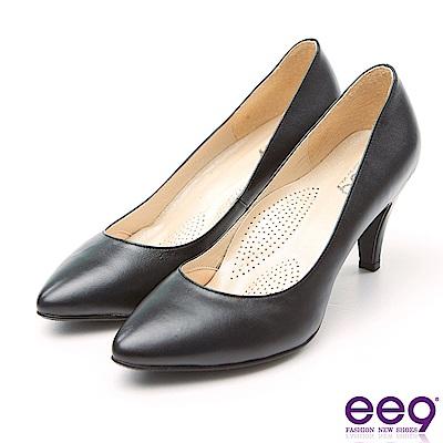 ee9 MIT通勤私藏經典百搭素面跟鞋 黑色