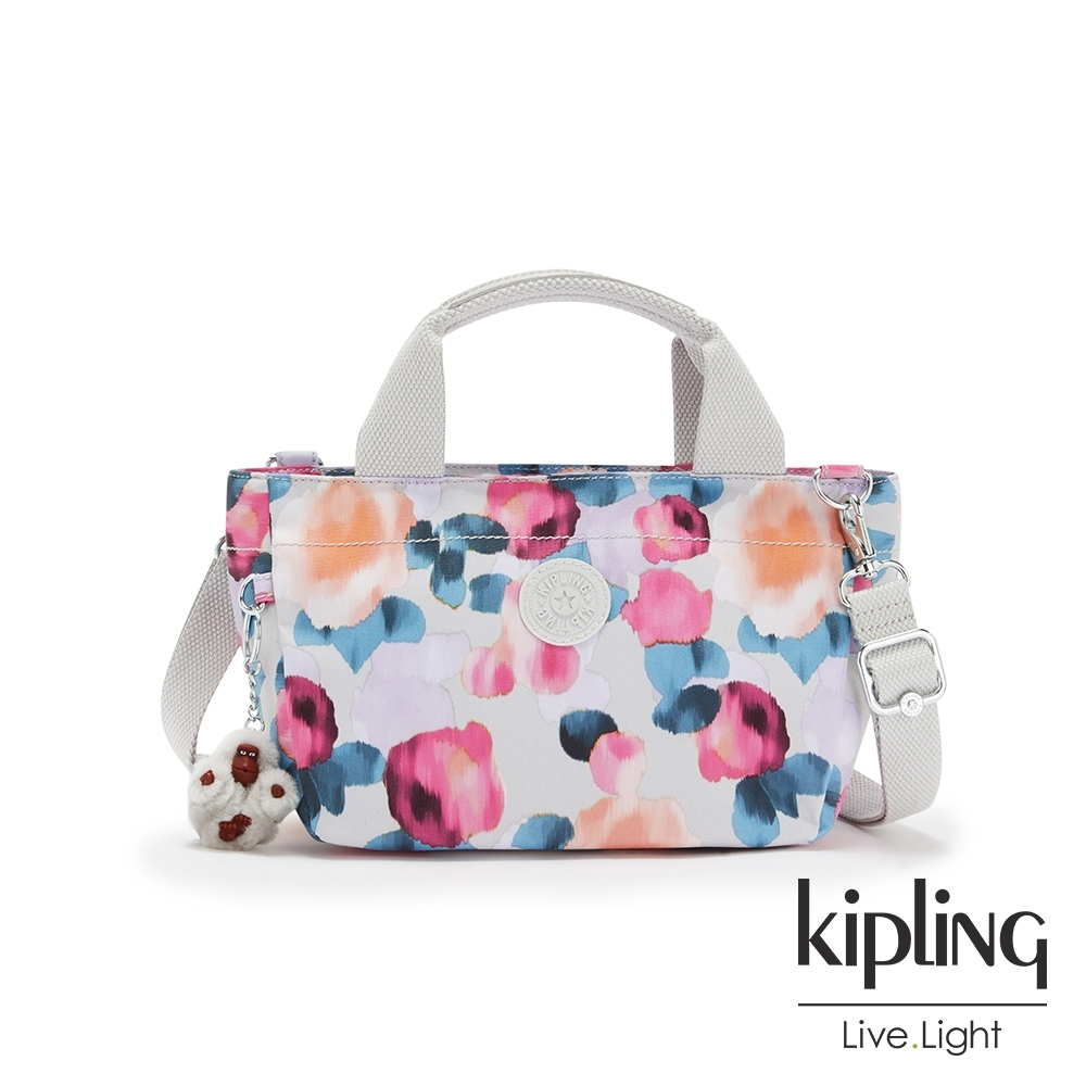 Kipling 繽紛夢幻花繪手提兩用斜背包-SUGAR S II