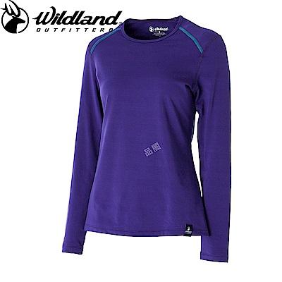 【Wildland 荒野】女輕量抗菌親膚保暖衣紫