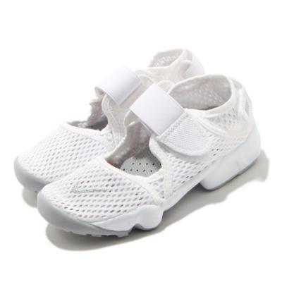 Nike 休閒鞋 Rift PS 忍者鞋 童鞋 復古 魔鬼氈 輕量 透氣 球鞋 白 灰 322359111