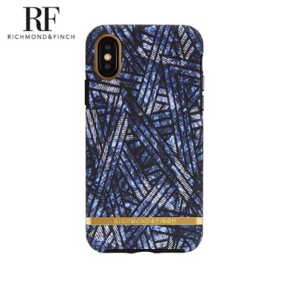RF瑞典手機殼 金線框 -迪斯可單寧 (iPhone X/Xs 5.8吋)