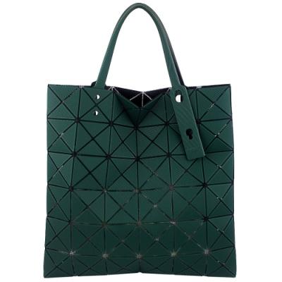 ISSEY MIYAKE 三宅一生BAOBAO斜面壓印方格6x6手提包(綠)
