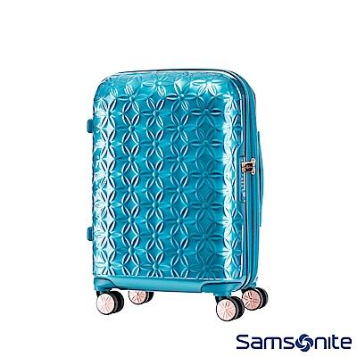 Samsonite新秀麗 20吋Theoni 3D花卉圖案可擴充硬殼登機箱(土耳其藍)