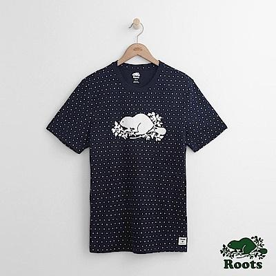 Roots 男裝-米拉米契短袖T恤-藍色