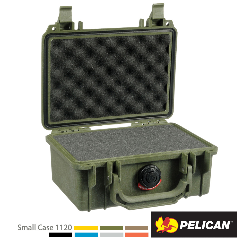 美國 PELICAN 1120 氣密箱-含泡棉(綠)