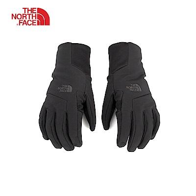 The North Face北面男款黑色防風保暖可觸屏手套|3KPQJK3