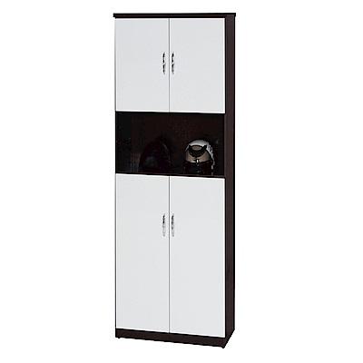 綠活居 阿爾斯環保2.2尺塑鋼四門高鞋櫃(12色)-65x37x180cm免組