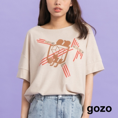 gozo-ON&OFF個性落肩上衣(二色)