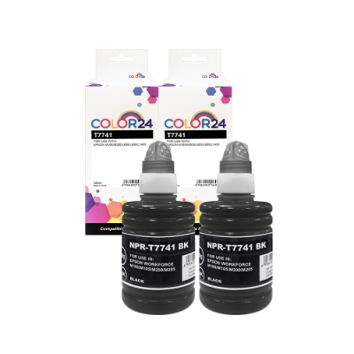 Color24 for Epson 2黑 T774100/140ml 防水相容連供墨水