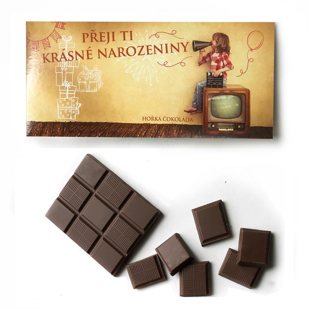 捷克 波西米亞禮讚 黑巧克力-生日快樂(100g) @ Y!購物