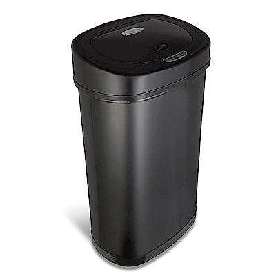 美國NINESTARS 時尚不鏽鋼感應垃圾桶50L (廚衛系列)尊爵黑