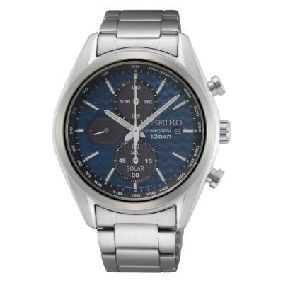 SEIKO 運動計時藍面太陽能腕錶V176-0BH0B(SSC801P1)