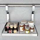 百轉空間 拉絲紋不鏽鋼單層瓶罐置物架(1入)