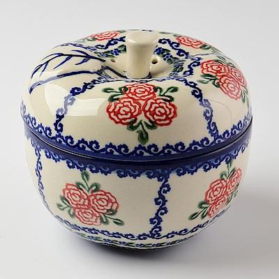 【波蘭陶 Vena】 漫野薔薇系列 蘋果烤盅(含蓋) 400ml 波蘭手工製