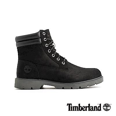 Timberland 男款黑色戶外抓地正絨面皮革六吋靴|A1ODY