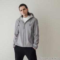 【VVIP】GIORDANO 男裝高機能刺繡連帽外套(4色任選)