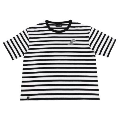 agnes b. - Sport b. 條紋圓領短袖上衣(女)(黑/白)